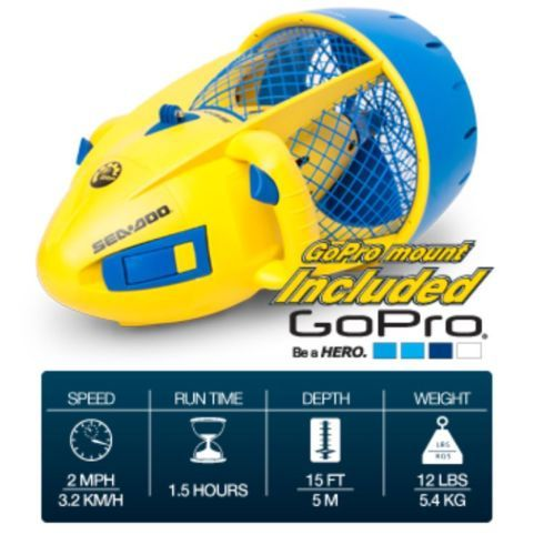 SeaDoo-Dolphin-SeaScooter-Kids-Pool-Scooter-Electric-Waterproof-Go-Pro-Mt-SD5542