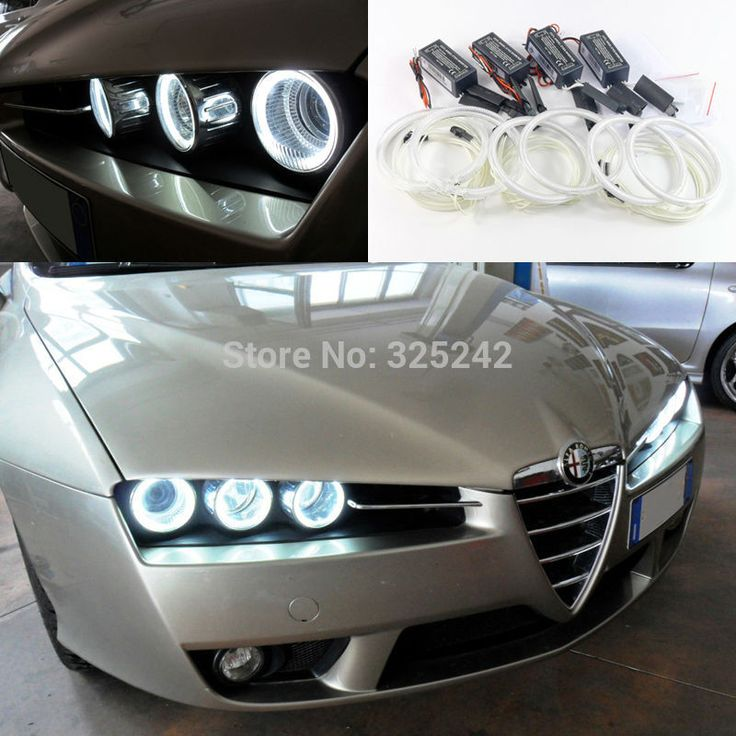 For Alfa Romeo Brera Spider 2005-2011 Excellent Angel Eyes Ultra bright headlight illumination ccfl angel eyes kit Halo Ring