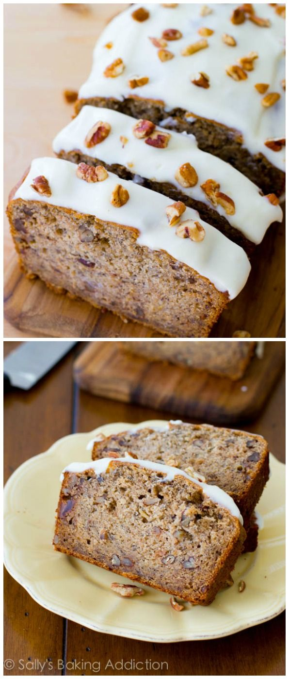Best Ever Banana Bread With Cream Cheese Icing Recipe