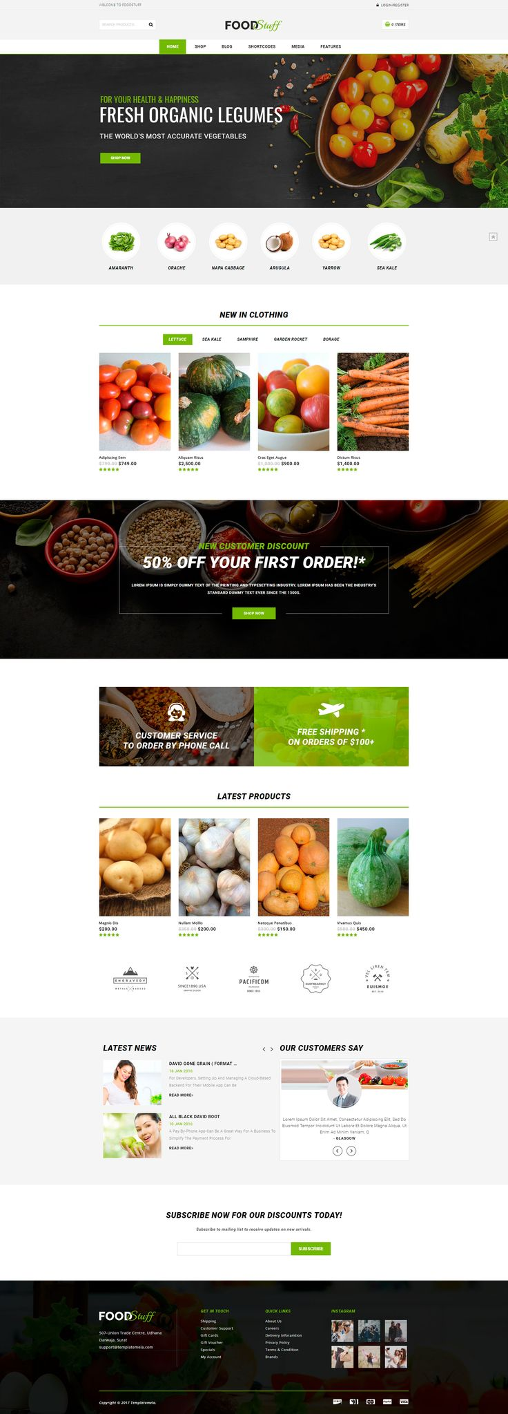 Food Stuff is #WordPress #ecommerce #theme based on #WooCommerce plugin. It is suitable for food, vegetables, restaurants, fresh market, sports, jewelry and accessories store. It is also multipurpose theme which can be used for any kind of online store. Food Stuff WooCommerce theme is looking good with it's clean and fresh #design. All sub pages are customized. #website #wordpress
