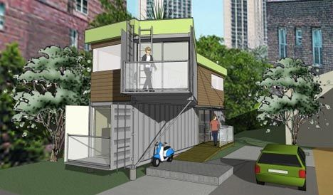 Finally! A shipping container house that has a Skewed View.