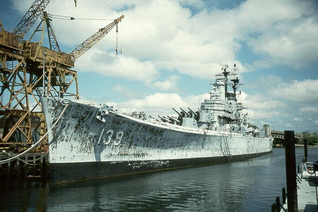 USS Salem (CA-139) at Fore River Shipyard, Quincy Mass., May 2, 1998.   Z