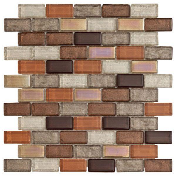 Agrigento Brick Mosaic Glass Tile 8mm Kitchen Blacksplash