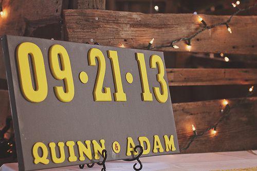 DYI Wedding Sign