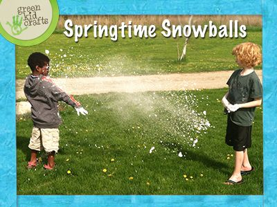 The kids will have a blast with these snowballs in the backyard and can hop in the pool to clean up!