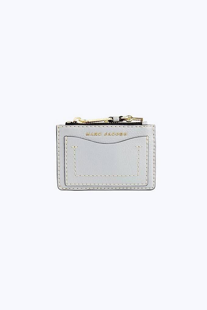 ebc2c1b9a0f1 Marc Jacobs The Grind Top-Zip Multi Wallet in Rock Grey | Marc ...