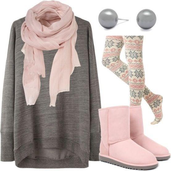Idea para invierno combinado con botas ugg