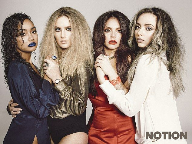 Hot stuff: Little Mix have showcased a completely different style for their latest fashion shoot with edgy lifestyle magazine, Notion