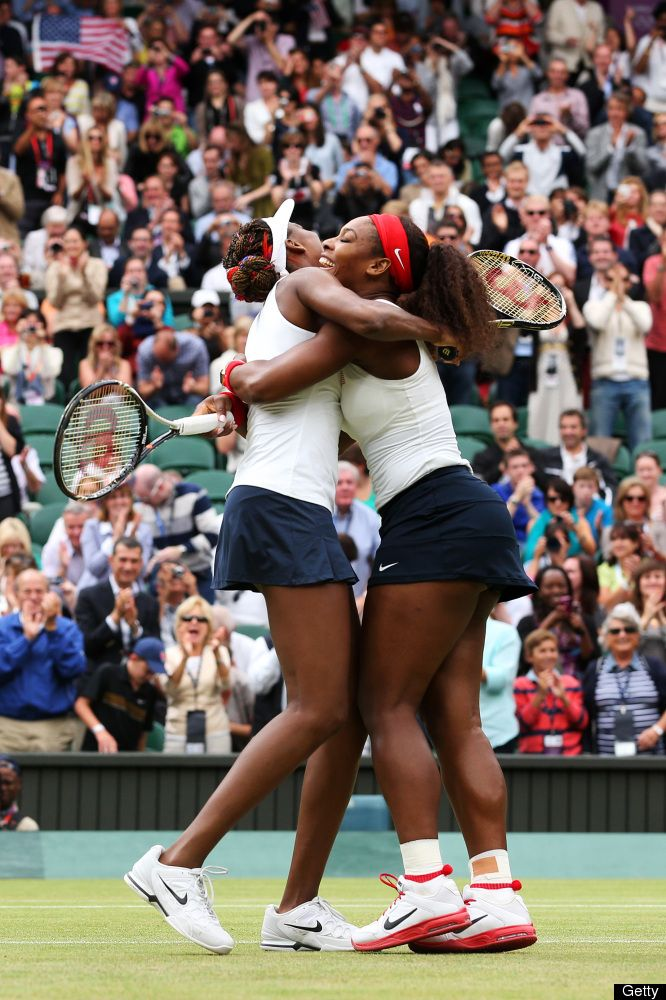 Olympics Day 9 - Venus and Serena WIlliams win the doubles gold medal. They now have four gold medals each, more than any other tennis player in Olympic history. love watching them play both singles and doubles.