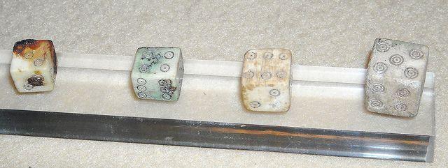Ivory dice from Pompeii (79 AD) - Antiquarium of Boscoreale / Naples