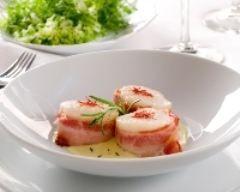Roulés de St Jacques au bacon (facile, rapide) - Une recette CuisineAZ