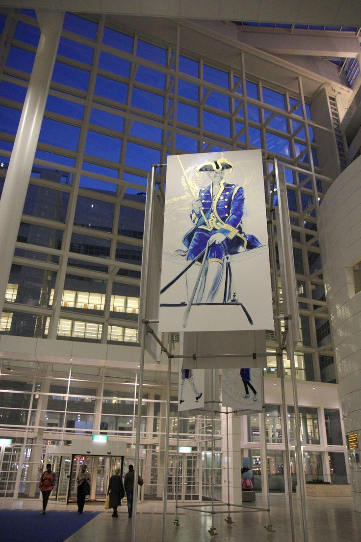 Prinsjesdag in Blauw en Goud Wilma van der Meyden Atrium The Hague City Hall