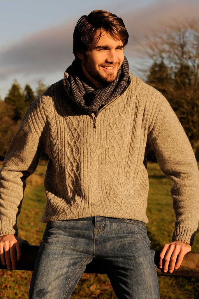 Laid back, classic, and ideal for most any cold weather ensemble, this Aran island sweater embodies all the things you love about traditional Irish clothing, and so much more. It has a timeless design