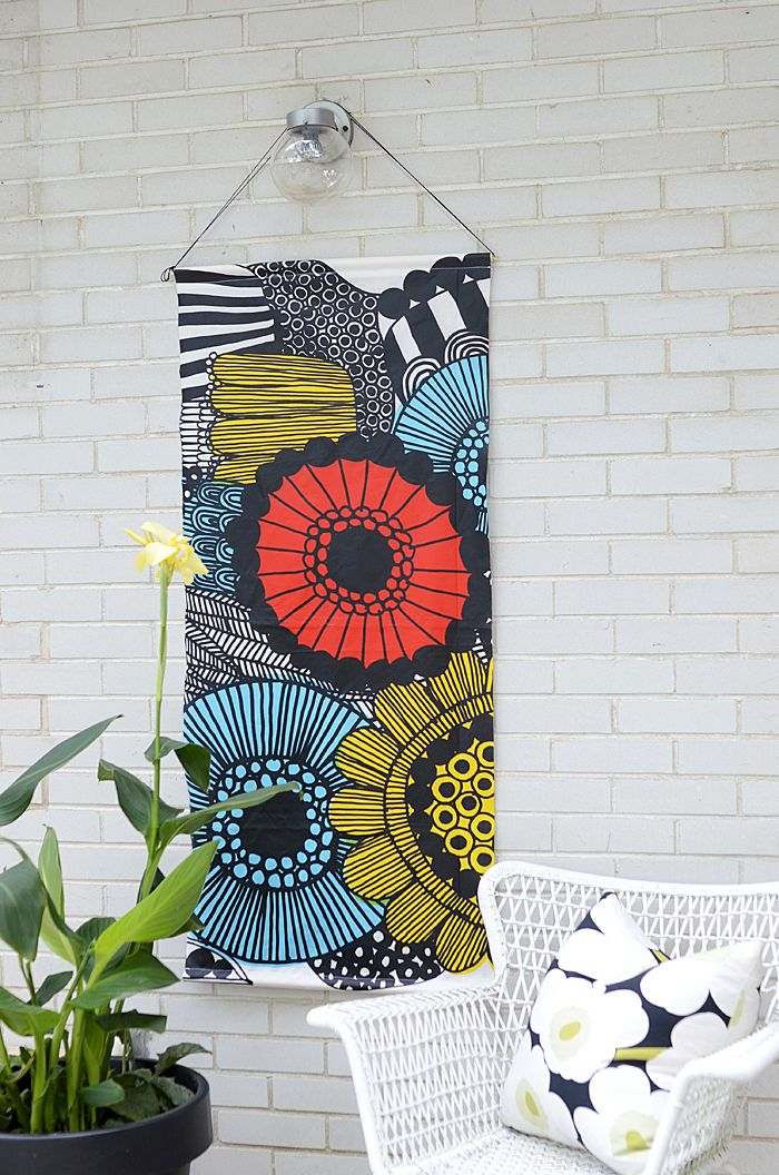 Wall Art With Material : Unique fabric wall hangings ideas on
