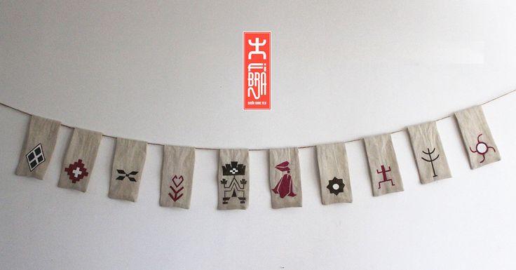 Banderines Artesanales diseños indígenas. on Behance