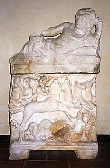 """""""Urna cineraria"""" Epoca ellenistica - Antiquarium di Sant'Appiano Barberino Val D'Elsa"""