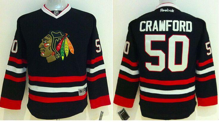 Chicago Blackhawks Jersey - Crawford Black NHL Hockey Jersey