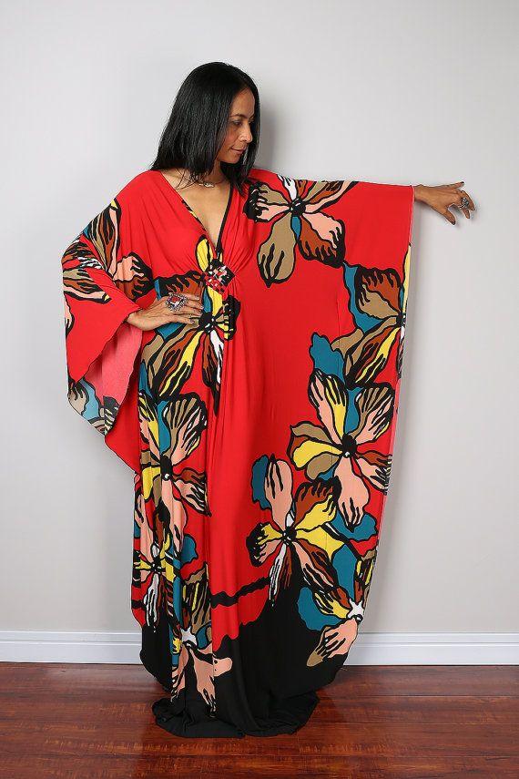 Boho Maxi Dress - Floral Kimono Butterfly Maxi Dress : Funky Elegant Collection No.1