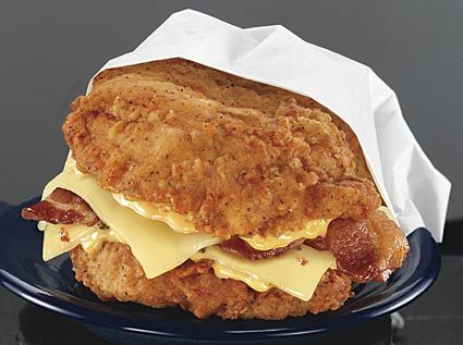 kfc chicken | ... Seriously. REAL. Ladies and gentlemen, the KFC Double Down Sandwich