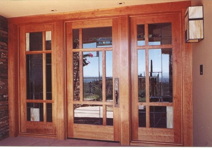 Pin by holly neal on craftsman style ideas pinterest for Front doors that let in light