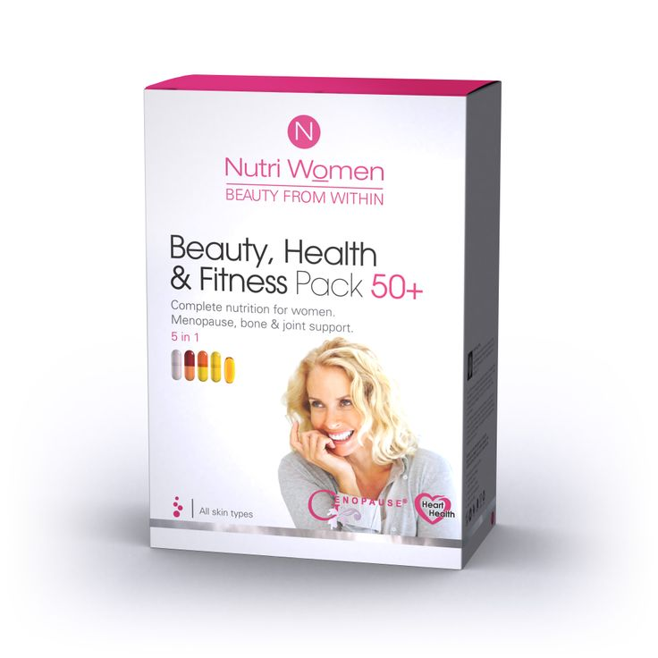 Beauty, health and fitness pack 50+. An all in one pack with specific capsules designed for menopause and bone and joint health. one sachet per day for all your needs.