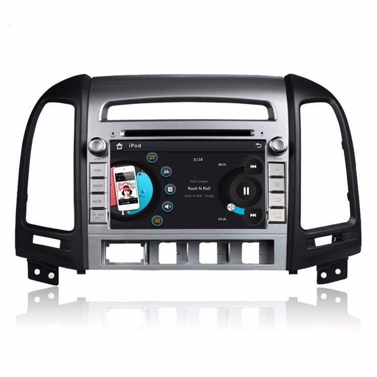 "HD 2 din 7"" Car Radio DVD Player for HYUNDAI SANTA FE 2006-2012 With GPS Navigation Bluetooth IPOD TV USB SWC RDS AUX IN"