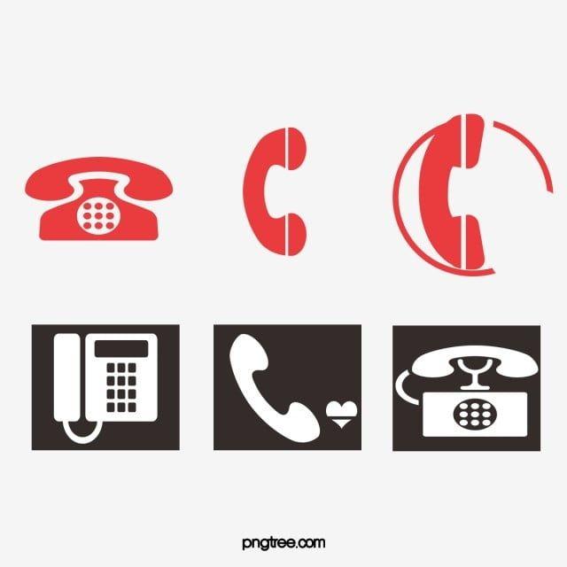 رمز الهاتف أحمر أسود Phone Icon Certificate Design Phone