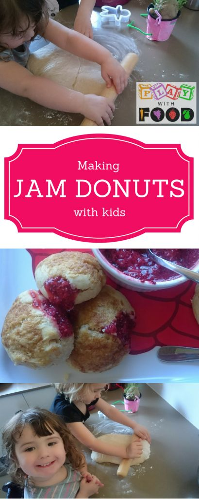 Making Strawberry and Chia Jam Filled Donuts with Kids   Play with Food
