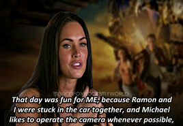 funny cute lol interview adorable megan fox behind the scenes shia labeouf bts transformers mean goddess shia labeouf s megan fox s megan fox rocks my world megan fox rocks my world s meganfoxedit michael bay transformers 2 mikaela banes sam witwicky mbanesedit reasons i love megan denise fox