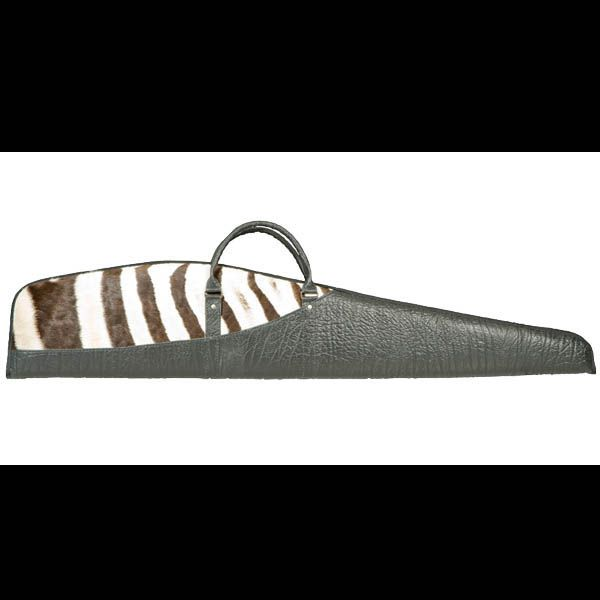 Cape Buffalo Hide & Zebra Skin Rifle Bag  #capebuffalohideandzebraskinriflebag
