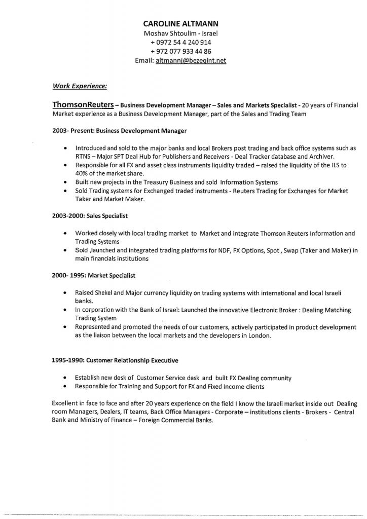 business development resume skills