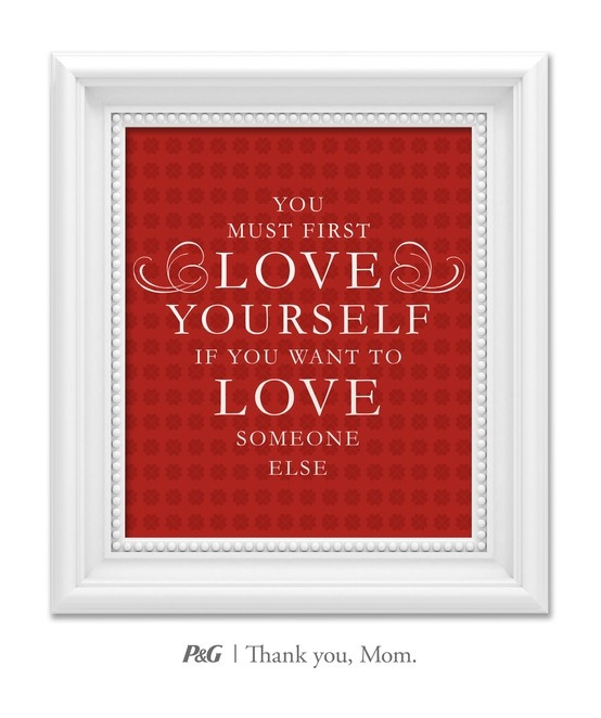"""""""You must first love yourself if you want to love someone else."""" What's the best advice your mom gave you? In the spirit of Mother's Day, tweet the words of wisdom she passed down to you with #momswisdom or post on https://www.facebook.com/thankyoumom"""
