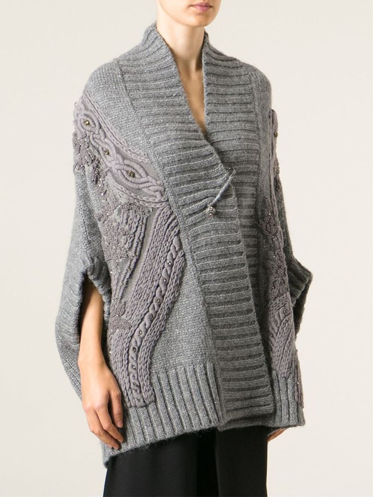 Antonio Marras Cable Knit Embellished Cardigan - Stefania Mode - Farfetch.com