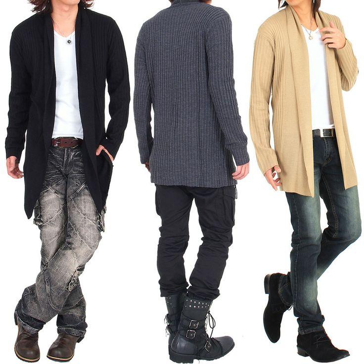 【楽天市場】カーディガン きれいめ ショールカラー ニット ロング カーディガン 新作 メンズファッション トップス カーディガン メンズ 通販 あす楽 Men's トップイズム RCP:TopIsm メンズ ファッション 通販