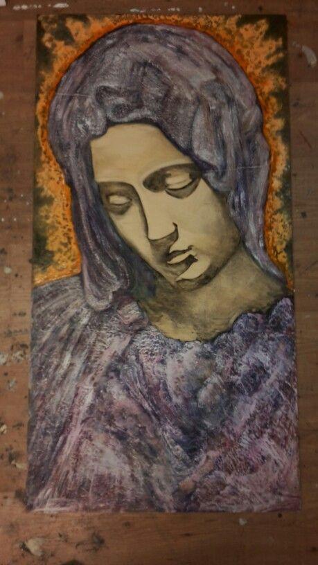 Schilderij Maria