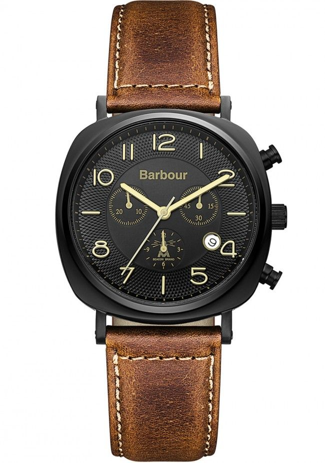 Barbour Beacon Mens Chronograph Watch BB019BKTN   WatchWarehouse