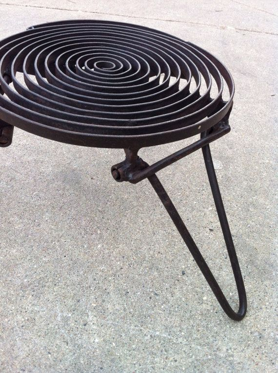 Spiral Folding Grill Grate For Camping by MerguezFrites on Etsy