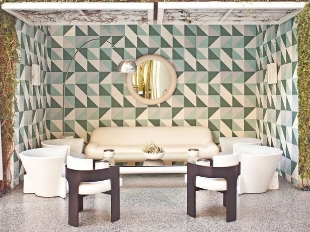 Defend the Trend: Are Outdoor Living Rooms a Waste of Space? (http://blog.hgtv.com/design/2014/08/08/outdoor-living-room-furniture-trend/?soc=pinterest): Wall Patterns, Avalon Hotels, The Angel, Interiors Design, Hotels Interiors, Kelly Wearstler, Beverly Hill, Dining Tables, Boards