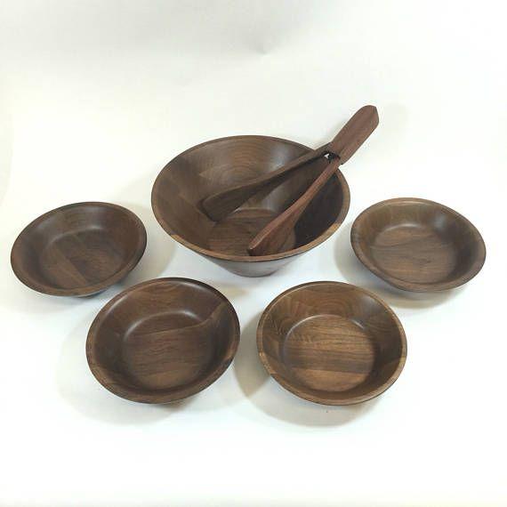 Wooden Salad Bowl Set Serving Bowls Set Wood Serving Bowls