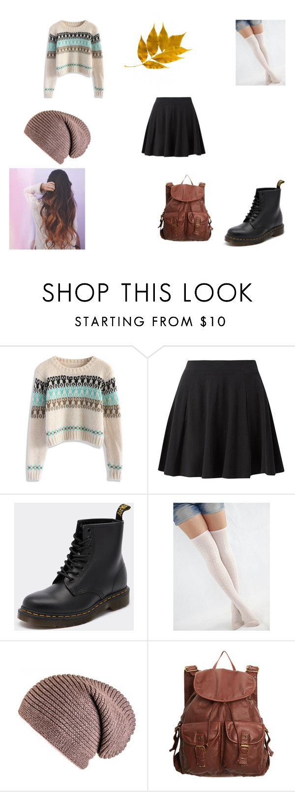 """""""cute, semi-dressy winter outfit!"""" by amcgirl22 ❤ liked on Polyvore featuring Chicwish, Dr. Martens and dELiA*s"""