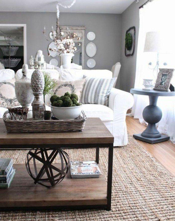 ▷ 1001 + Ideen Für Wohnzimmer In Grau Weiß Zum Inspiriren | Wohnzimmer  Design | Living Room Decor Country, Living Room Decor, French Country  Living Room