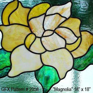 stained glass magnolia pattern - Buscar con Google