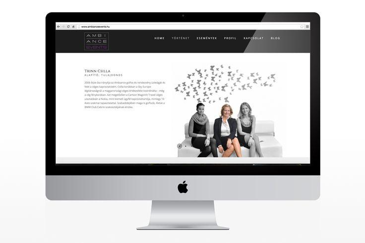 Ambiance Boutique Events web design