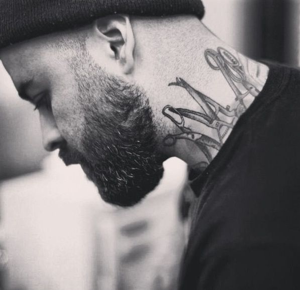 194 best images about barbaryan on pinterest scissors for Barber neck tattoos