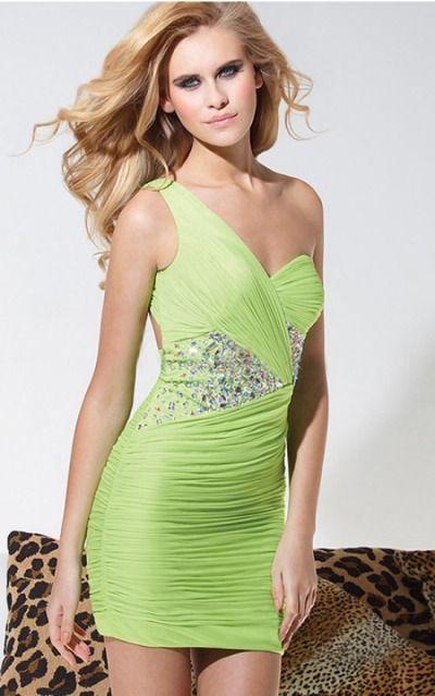 One Shoulder Sleeveless Sheath Zipper Short Formal Dresses afea7559