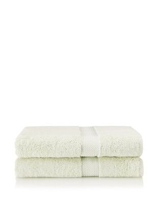 Chortex Rhapsody Royale Set of 2 Bath Sheets, Mint, 35