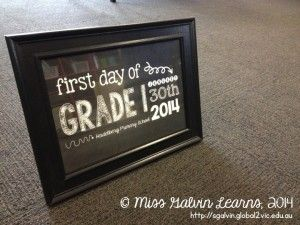 First Day Photobooth Chalkboard Frame