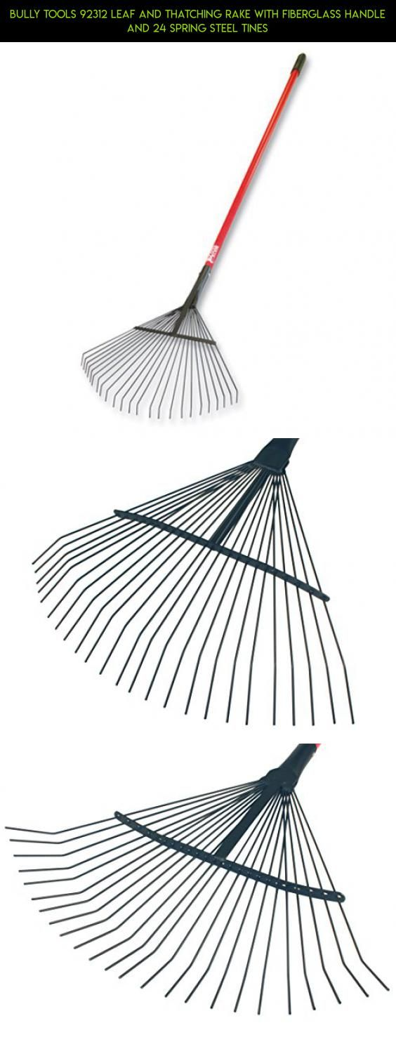 Bully Tools 92312 Leaf and Thatching Rake with Fiberglass Handle and 24 Spring Steel Tines #technology #racing #kit #rake #parts #plans #tech #gardening #products #tools #shopping #camera #gadgets #fpv #drone
