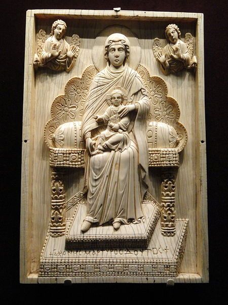 Byzantine ivory plaque.  Cleveland Museum of Arts