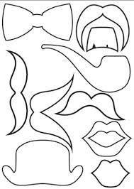 Resultado de imagen para imagenes de lentes bigotes y globos de conversacion labios para imprimir